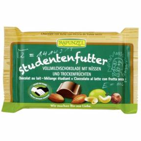Ciocolata cu mix de fructe si alune , ECO, 100 g, Rapunzel