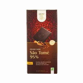 Ciocolata neagra 95% cacao ECO 80 g, Gepa