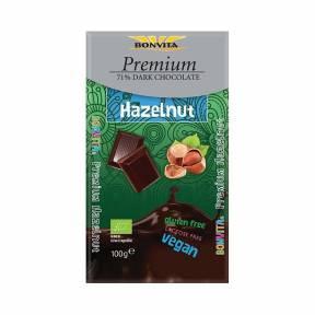 Ciocolata neagra cu alune de padure, ECO, 100 g, Bonvita