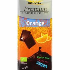 Ciocolata neagra cu portocala, ECO, 100 g, Bonvita