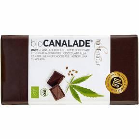 Ciocolata neagra cu seminte de canepa, ECO, 100 g, Hanf Natur