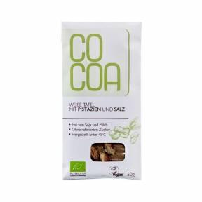 Ciocolata raw cu fistic si sare ECO 50 g, Cocoa