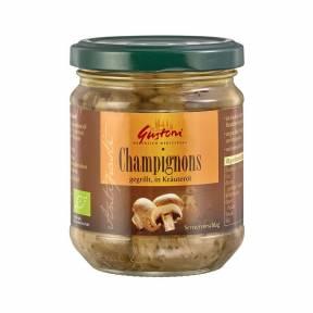 Ciuperci Champignon in ulei ECO 190 g, Gustoni