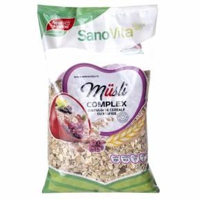 Complex din fulgi de cereale cu stafide 500 g, Sano Vita