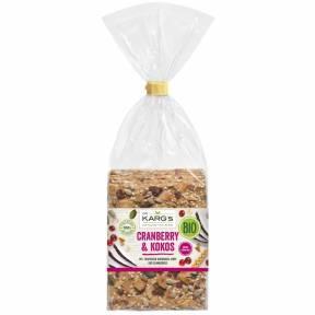 Crackers din faina de grau cu merisor si fulgi de cocos ECO 200 g, Dr. Karg