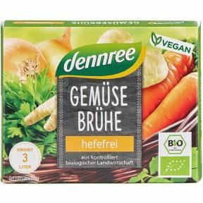 Cuburi de supa din legume, fara drojdie, ECO, 60 g (6 x 10 g), Dennree