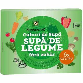 "Cuburi de supa ""Supa de legume"", fara zahar, ECO, 66 g, Sonnentor"