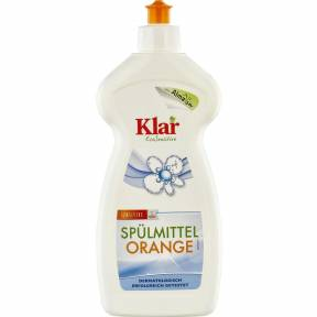 Detergent lichid pentru vase cu aroma de portocala 500ml, Klar
