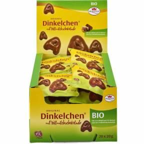 Turta dulce din alac in ciocolata cu lapte, Dinkelchen, ECO 20 g, Dr. Quendt