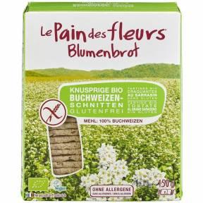 Felii crocante din faina de hrisca, fara gluten, ECO 150 g (2 x 75 g), Le Pain des fleurs