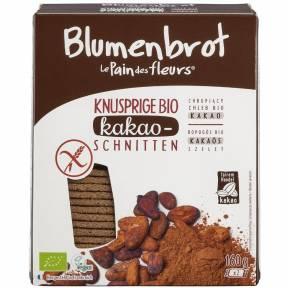 Felii crocante din faina de orez cu cacao, fara gluten, ECO 160 g (2 x 80 g), Le Pain des fleurs
