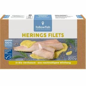 File de hering in sos ECO de mustar 200 g, Followfish