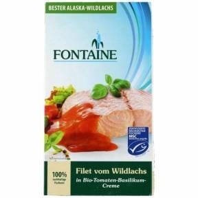 File de somon salbatic in sos de rosii cu busuioc 200 g, Fontaine