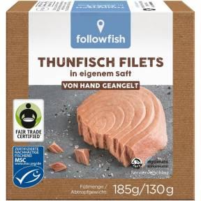 File de ton in suc propriu 185 g, Followfish