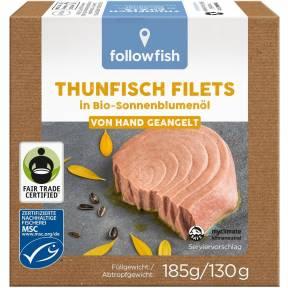 File de ton in ulei ECO de floarea soarelui 185 g, Followfish