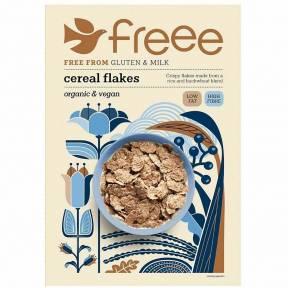 Fulgi de cereale, fara gluten, cu orez si hrisca, ECO, 375 g, Doves Farm
