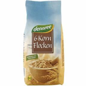 Fulgi din 6 cereale ECO 500 g, Dennree