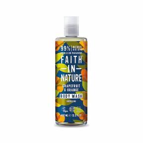 Gel de dus natural, energizant, cu grapefruit si portocala, Faith in Nature, 400 ml