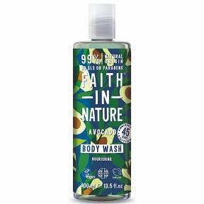 Gel de dus natural, nutritiv, cu avocado, Faith in Nature, 400 ml