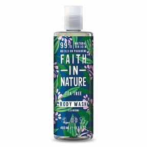 Gel de dus natural, purifiant, cu Tea Tree, Faith in Nature, 400 ml
