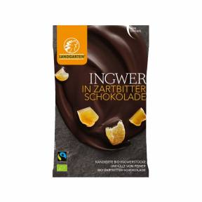 Ghimbir in ciocolata amaruie ECO 70 g, Landgarten