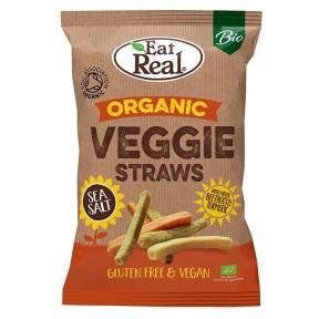 Gustare in forma de paie cu aroma de legume, fara gluten, ECO, 100 g, Eat Real