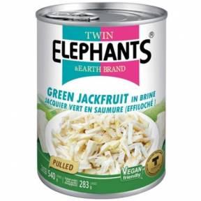 Jackfruit verde (fasii) in saramura 540 g, Twin Elephants and Earth