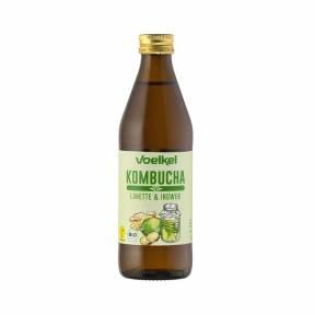 Kombucha cu suc de lime si ghimbir ECO 330 ml, Voelkel