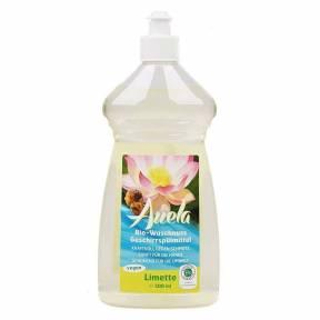 Lichid pentru spalat vase din nuci de sapun Bio, lime, 500 ml, Auela