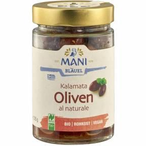 Masline kalamata fermentate ECO 205 g, Mani Blauel