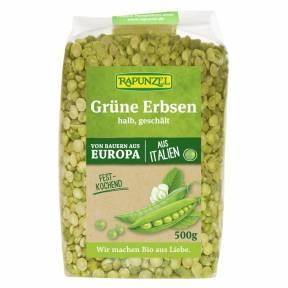 Mazare verde jumatati decojita , ECO, 500 g, Rapunzel