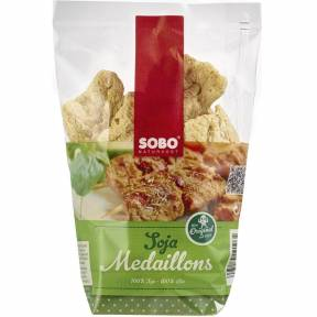 Medalioane din soia fara gluten ECO 100g, Sobo