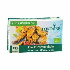 Midii in sos picant ECO 120 g, Fontaine