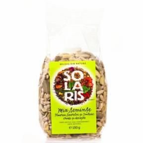 Mix seminte floarea soarelui si dovleac crude si decojite 150 g, Solaris