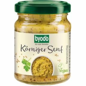 Mustar cu boabe de mustar, ECO, 200 ml, Byodo