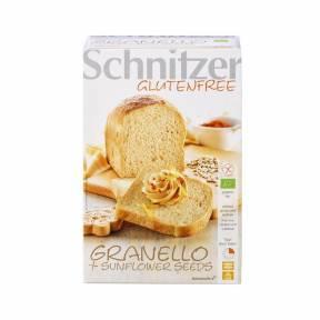 """Paine """"Granello"""" fara gluten cu seminte de floarea soarelui ECO 500 g, Schnitzer"""