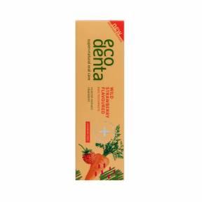 Pasta de dinti pentru copii cu aroma de capsuni si morcov, Ecodenta, 75ml