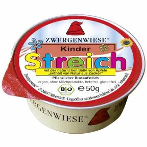 Pasta tartinabila vegana pentru copii indulcita cu suc de mere, fara gluten, ECO 50 g, Zwergenwiese