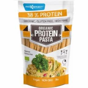 Paste fettuccine din soia si quinoa, cu continut ridicat de proteine, ECO, 200g, Maxsport