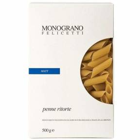 """Paste penne ritorte """"Matt"""", ECO, 500 g, Monograno Felicetti"""