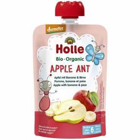 "Piure ""Apple ant"", cu mar, banana si para, Demeter, ECO, 100 g, Holle"