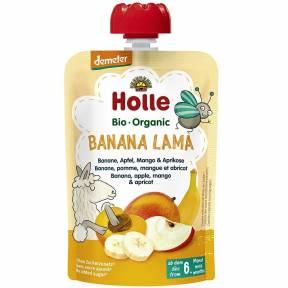 "Piure ""Banana Lama"", cu banana, mar, mango si caisa, Demeter, ECO, 100 g, Holle"