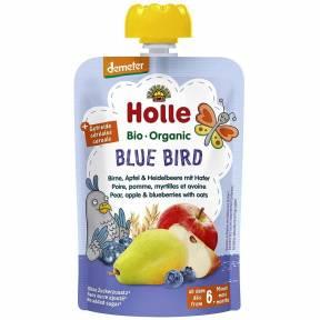 "Piure ""Blue bird"", cu para, mar, afine si ovaz, Demeter, ECO, 100 g, Holle"