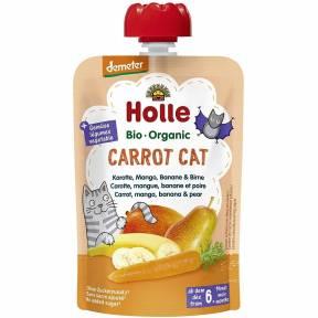 "Piure ""Carrot Cat"", cu morcov, mango, banana si para, Demeter, ECO, 100 g, Holle"