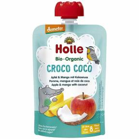 """Piure """"Croco Coco"""", cu mar, mango si cocos, Demeter, ECO, 100 g, Holle"""