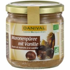Piure de castane cu vanilie ECO 380 g, Danival