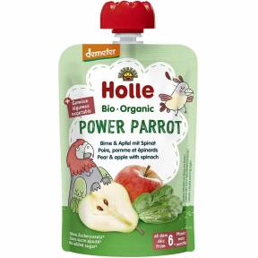 "Piure ""Power Parrot"", cu para, mar si spanac, Demeter, ECO, 100 g, Holle"