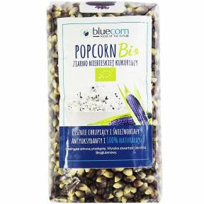 Porumb albastru pentru popcorn ECO, 350 g, Bluecorn