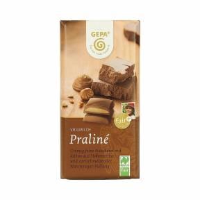 Praline (ciocolata cu umplutura de alune) ECO 100g, Gepa