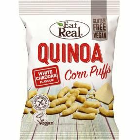 Pufuleti din porumb si quinoa cu aroma de cheddar alb, fara gluten, 113 g, Eat Real